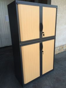 39643 Cabinet with sliding roller doors SteelCase
