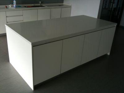 08198 Kitchen island with two refrigerators Beko