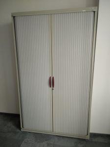04432 Metal cabinet with sliding roller doors SteelCase